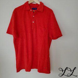 Les Garcons Faciles Shirt Tee Red Towel Cotton